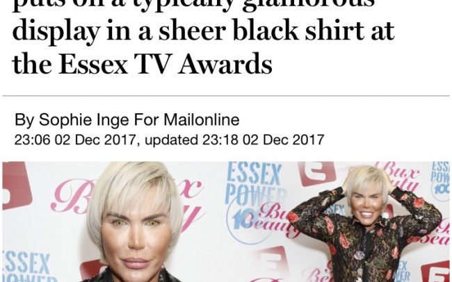 Essex TV Awards in the Daily Mail
