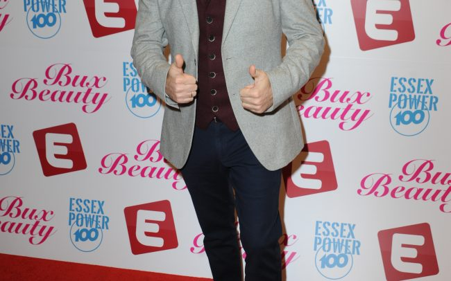 Johnny Palmero on the red carpet Essex TV Awards