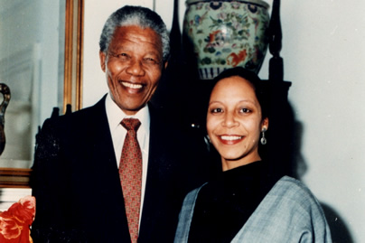 Nelson Mandela with Corrine Bougaard, Director Union Dance