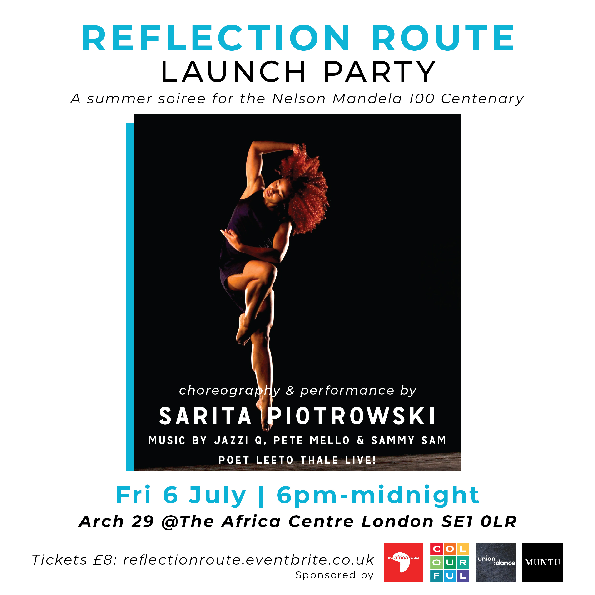 Celebrate the legacy of Nelson Mandela with Colourful Radio DJs, poetry & Afro Contemporary dance performances at The Africa Centre